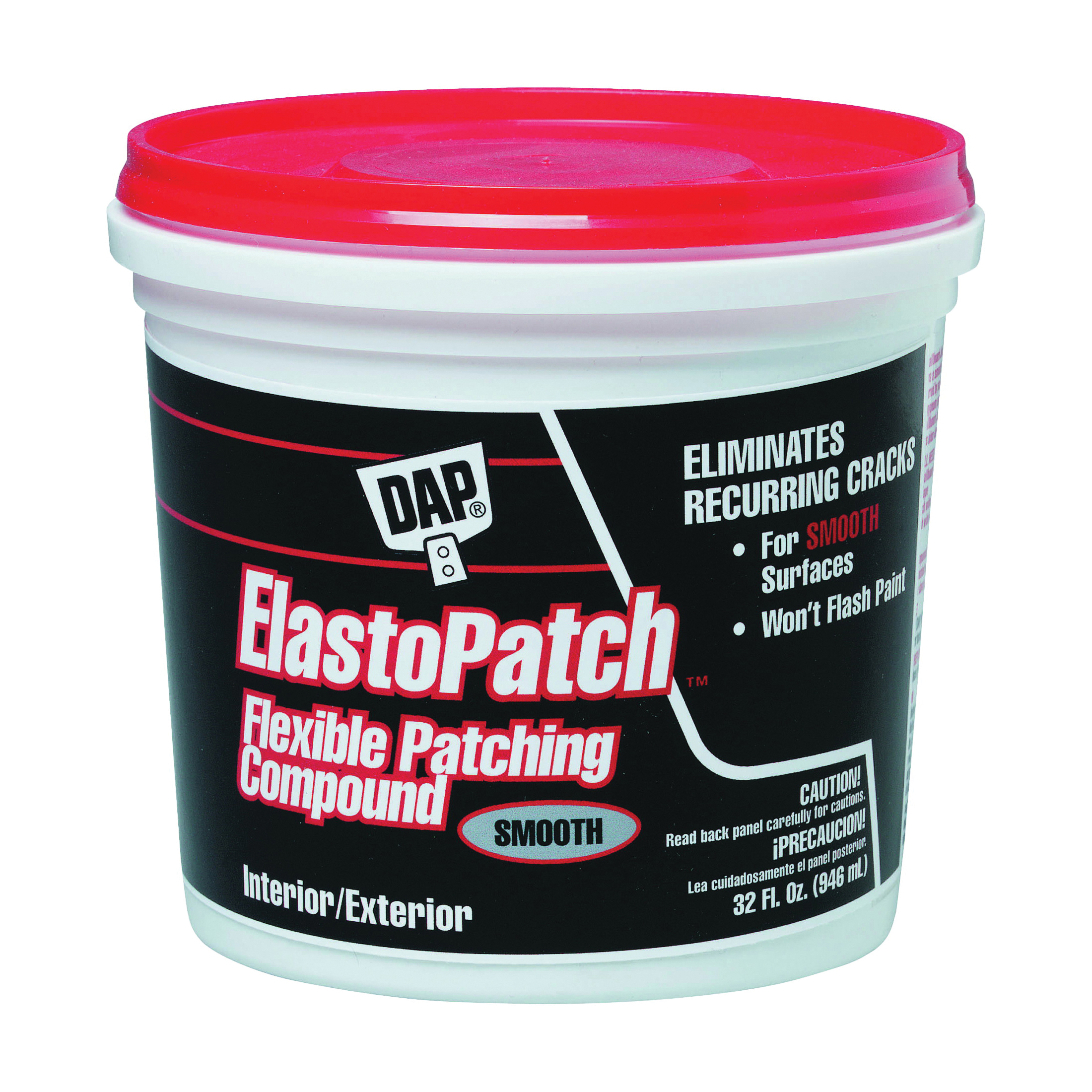 Picture of DAP 12278 Spackling Paste White, White, 1 qt, Tub