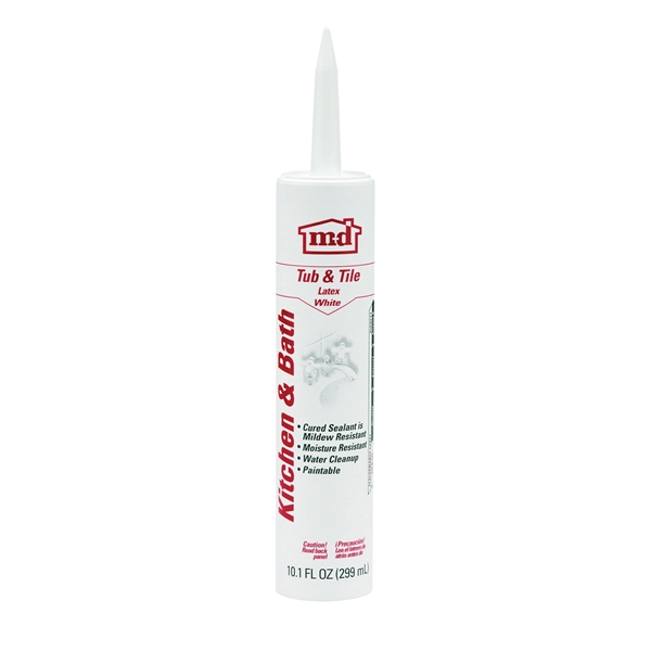 Picture of GE GE14209 Adhesive Caulk, White, 24 hr Curing, 10.1 oz Package, Cartridge