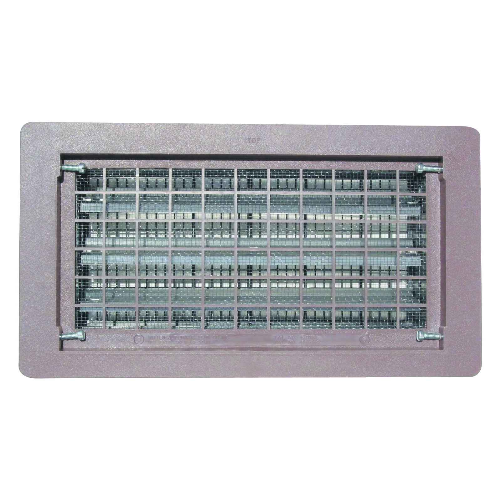 Picture of Bestvents 306MGR Foundation Vent, 65 sq-in Net Free Ventilating Area, Mesh Grill, Thermoplastic, Gray