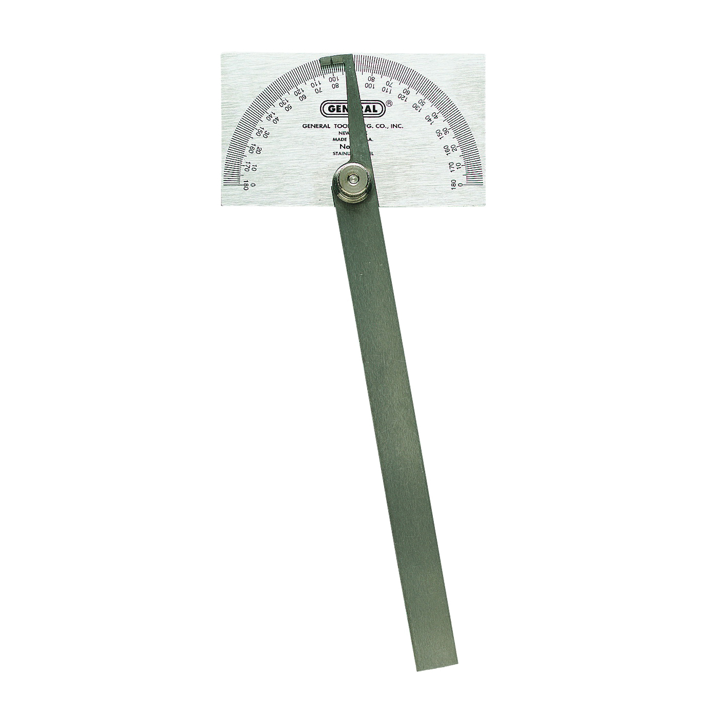 Picture of GENERAL 17 Square Head Protractor, 0 to 180 deg, Stainless Steel, Silver