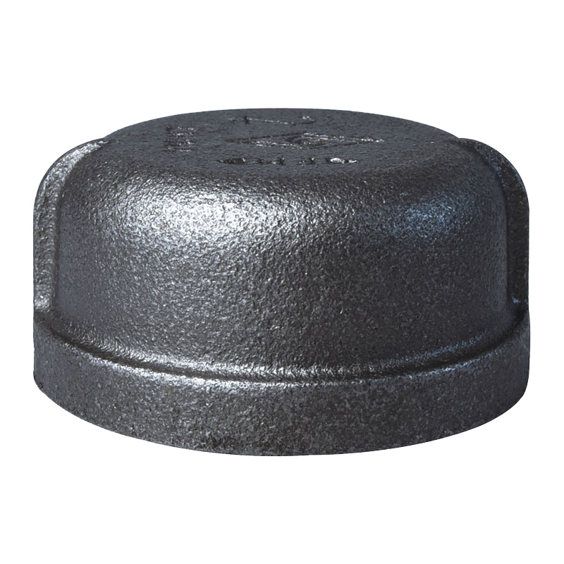 Picture of ProSource 18-2B Black Cap, 2 in, FIP, #150 Malleable Iron, 150 psi Pressure
