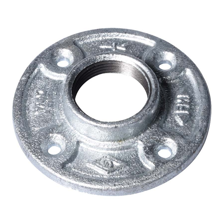 Picture of ProSource 27-11/4G Galvanized Floor Flange, 1-1/4 in, Malleable Iron