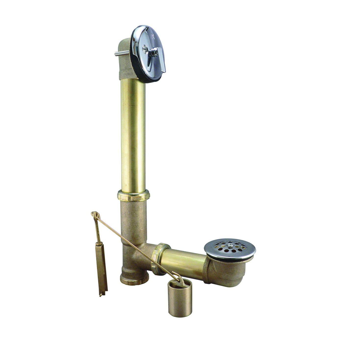 Picture of Keeney 606RB Bath Drain Assembly, Brass, Chrome, For: Built in Tubs