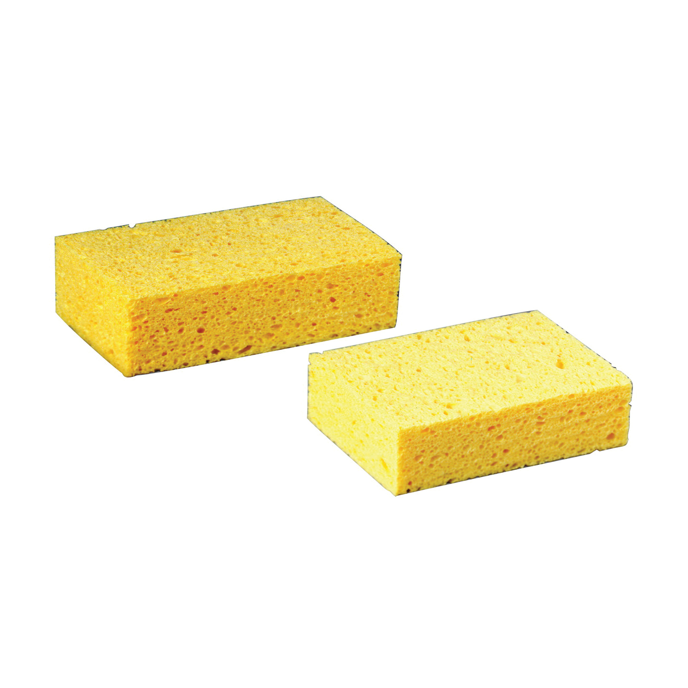 Picture of 3M 7456-T Commercial Sponge, 7-1/2 in L, 4-3/8 in W, 2.06 mil Thick, Cellulose, Yellow