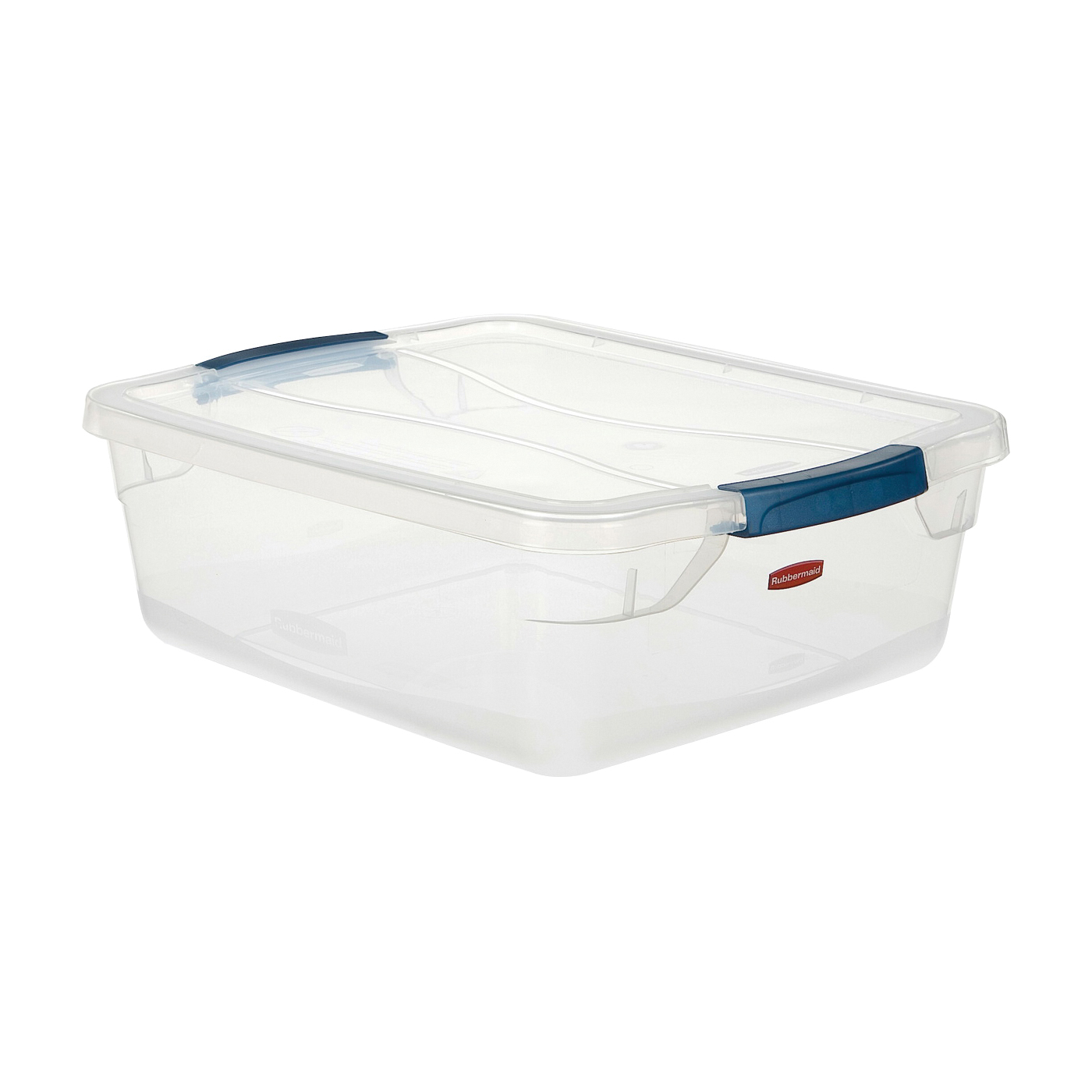 Picture of Rubbermaid Clever Store RMCC160000 Storage Container, Plastic, Clear, 16.8 in L, 13.3 in W, 5.3 in H