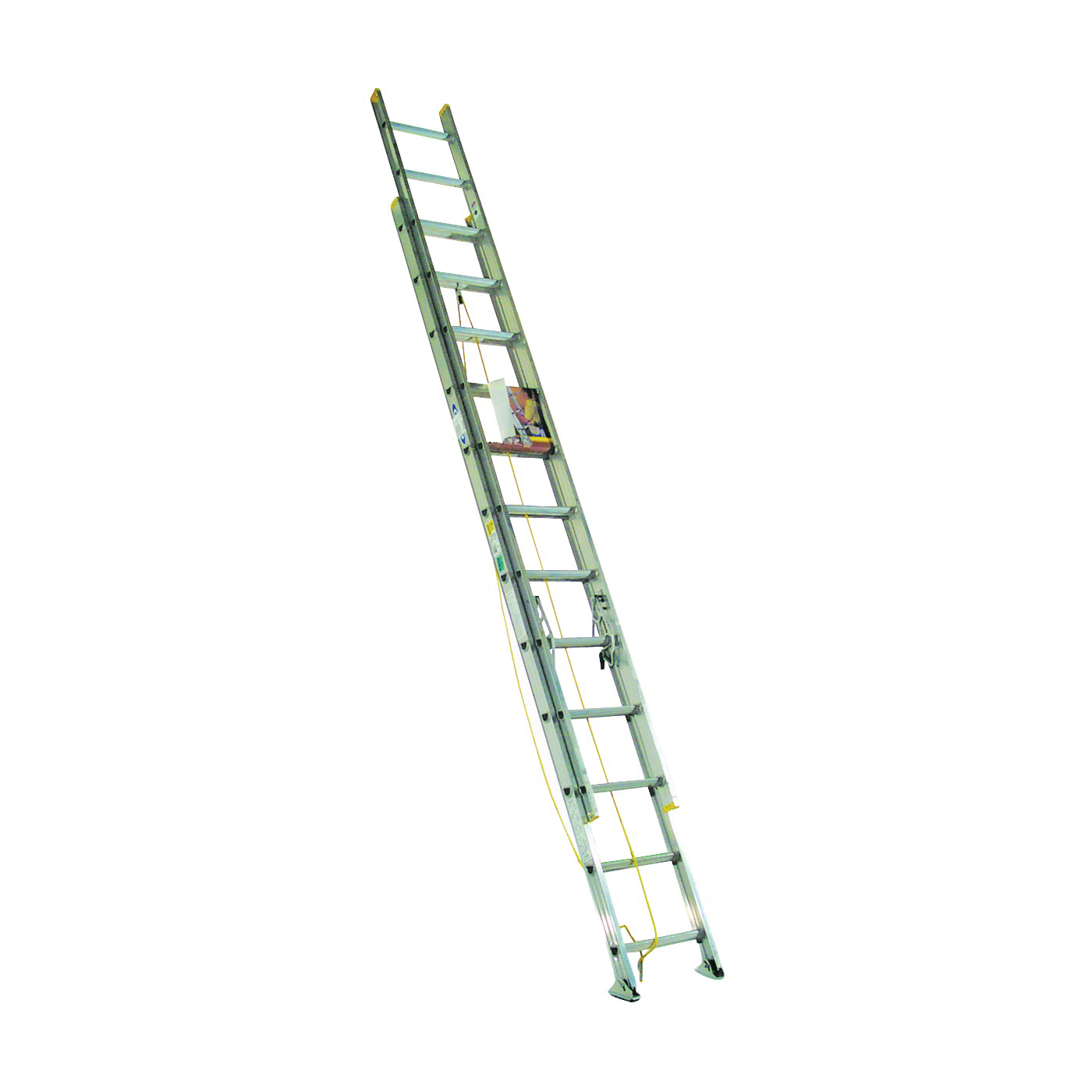Picture of WERNER D1224-2 Extension Ladder, 23 ft H Reach, 225 lb, Aluminum