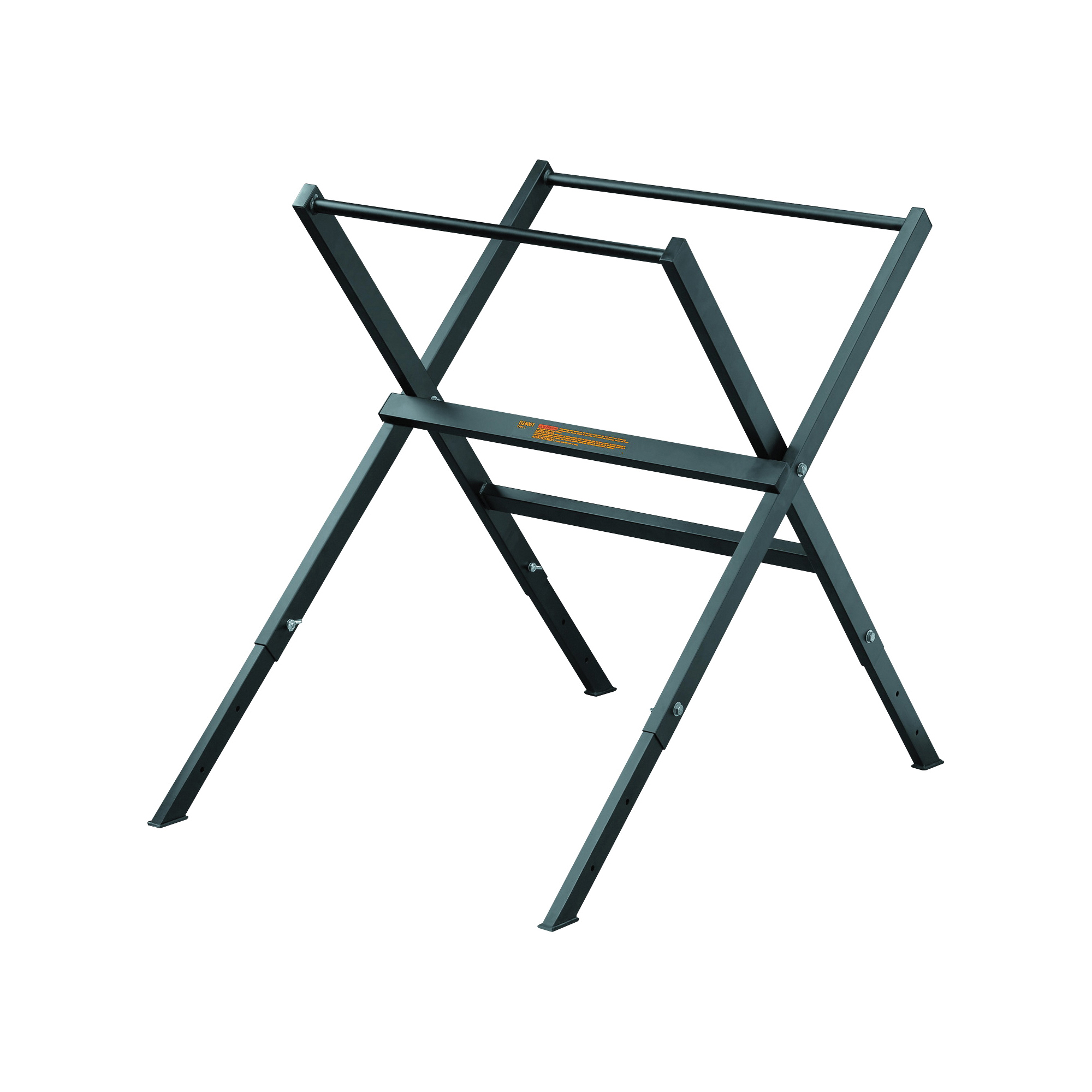 Picture of DeWALT D24001 Folding Stand, 300 lb, 23-3/4 in W Stand, 26-1/4 in D Stand, 29-1/4 in H Stand, Metal, Black