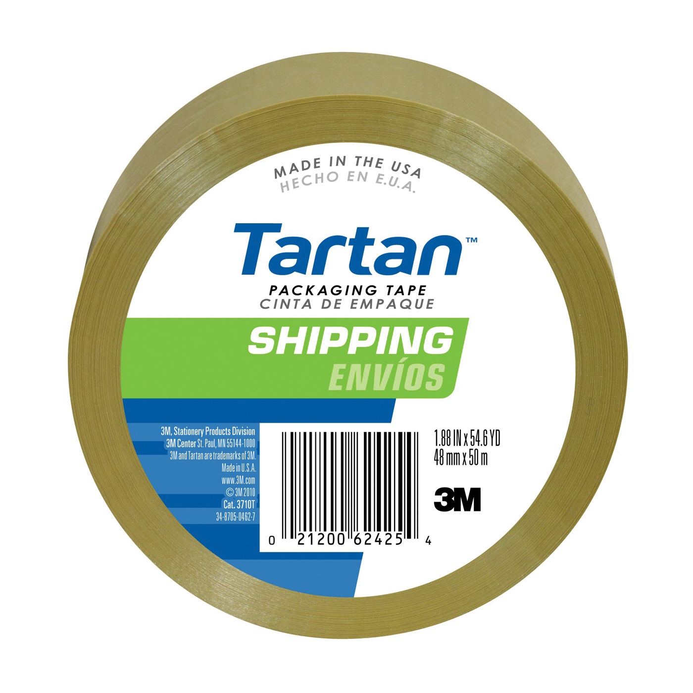 Picture of Scotch 3710T Sealing Tape, 50 yd L, 48 mm W, Polypropylene Backing, Tan