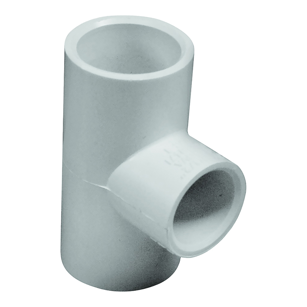 Picture of GENOVA 300 Series 31471 Pipe Reducing Tee, 3/4 in Run, Slip Run Connection, 1/2 in Branch, White