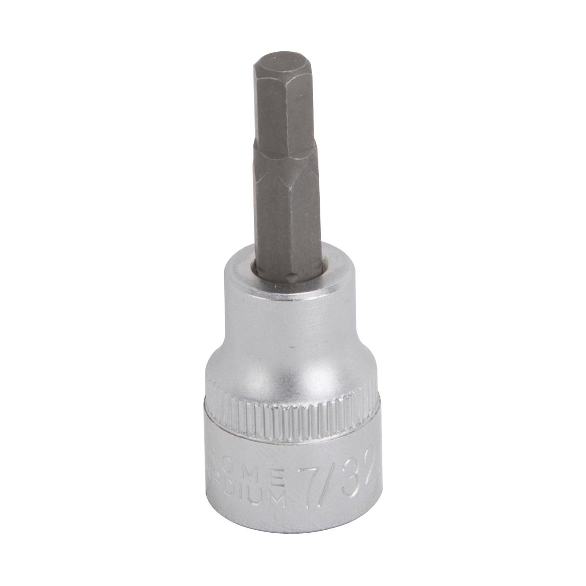Picture of Vulcan 3506005720 Fractional Hex Bit Socket, 7/32 in Tip, 3/8 in Drive, Chrome Vanadium