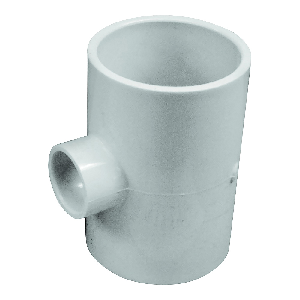Picture of GENOVA 300 Series 31434 Pipe Reducing Tee, 2 in Run, Slip Run Connection, 3/4 in Branch, White