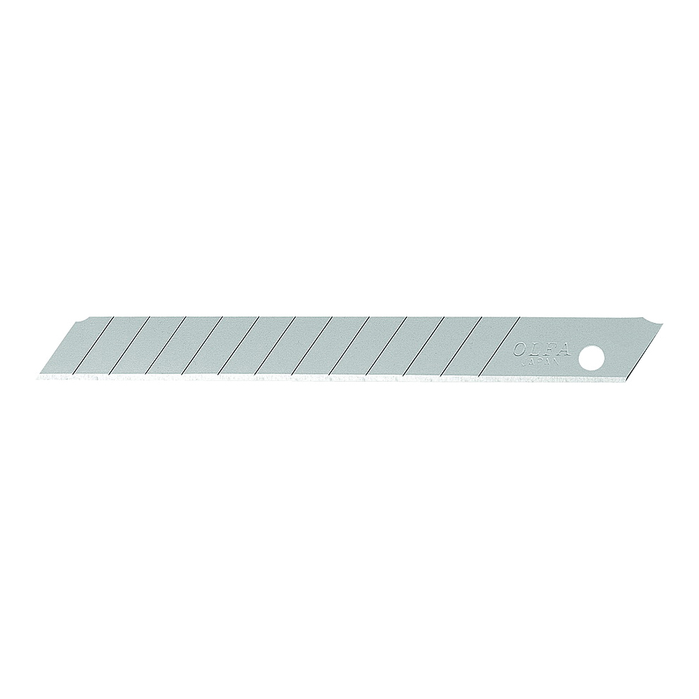 Picture of OLFA 5010 Knife Blade, 9 mm, Carbon Steel, 13 -Point, 10/PK, Pack