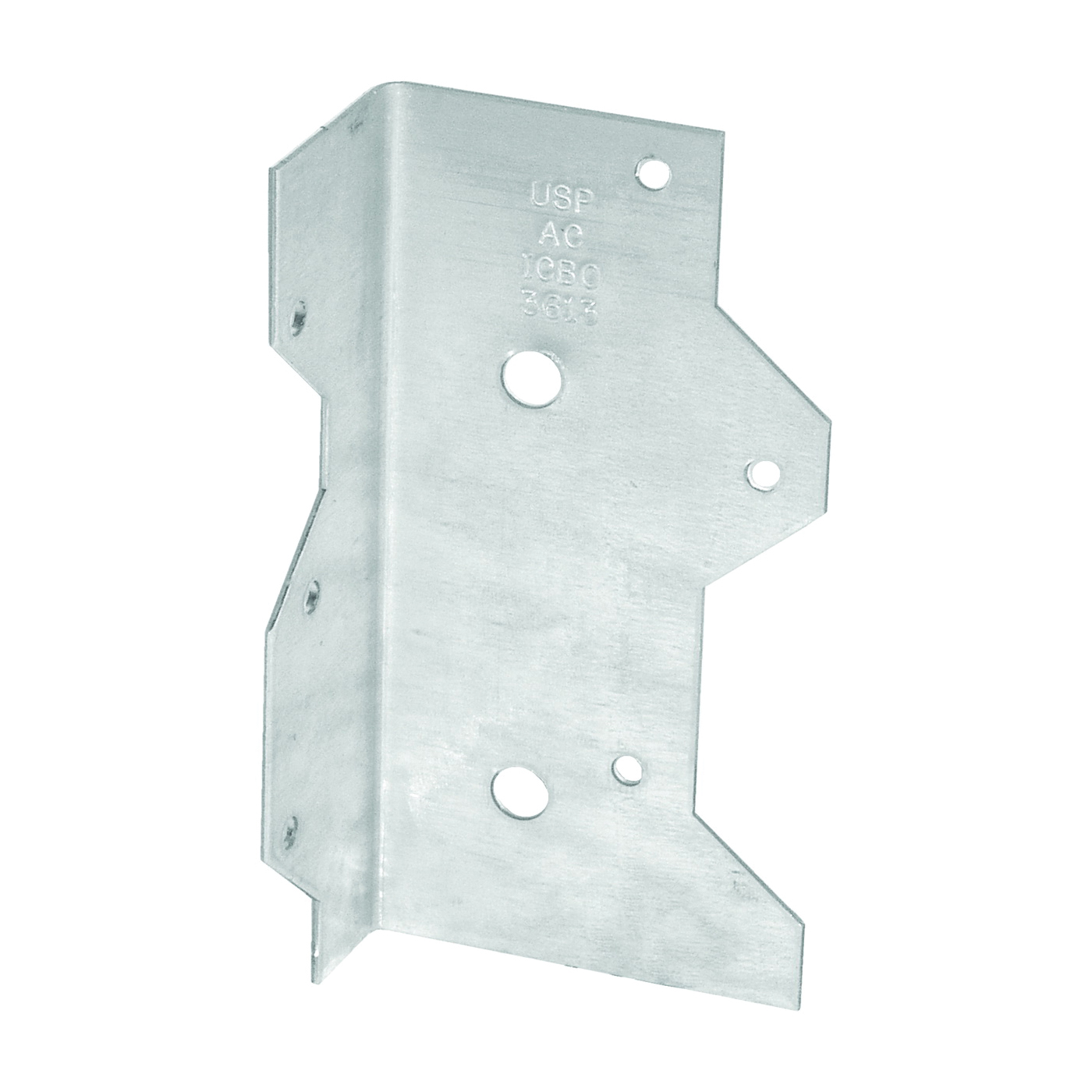 Picture of MiTek AC7-TZ Framing Angle, 1-5/16 in W, 2-3/8 in D, 6-15/16 in H, Steel, Zinc