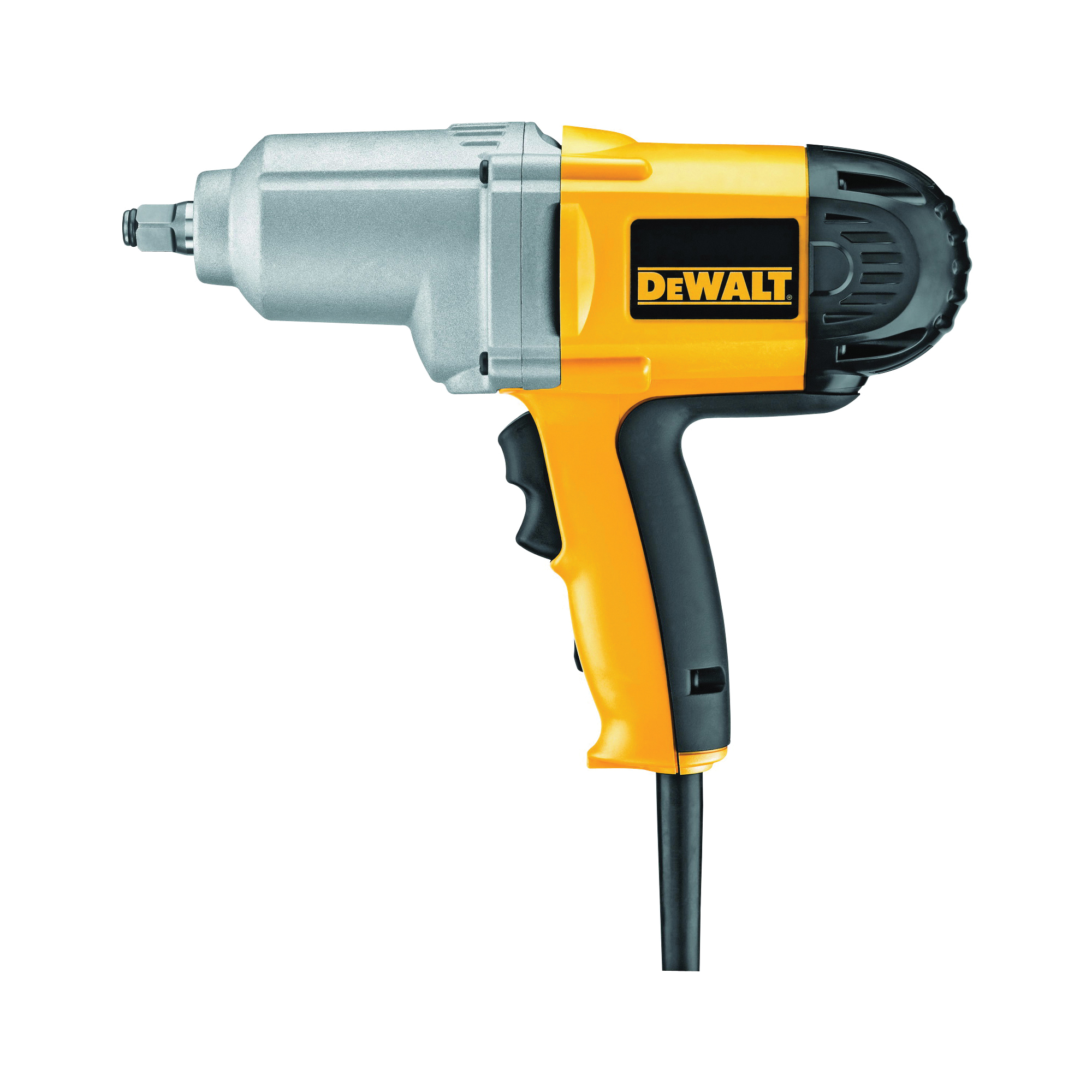Picture of DeWALT DW293 Impact Wrench with Hog Ring Anvil, 120 V, 1/2 in Drive, Square Drive, 345 ft-lb, 2100 rpm Speed