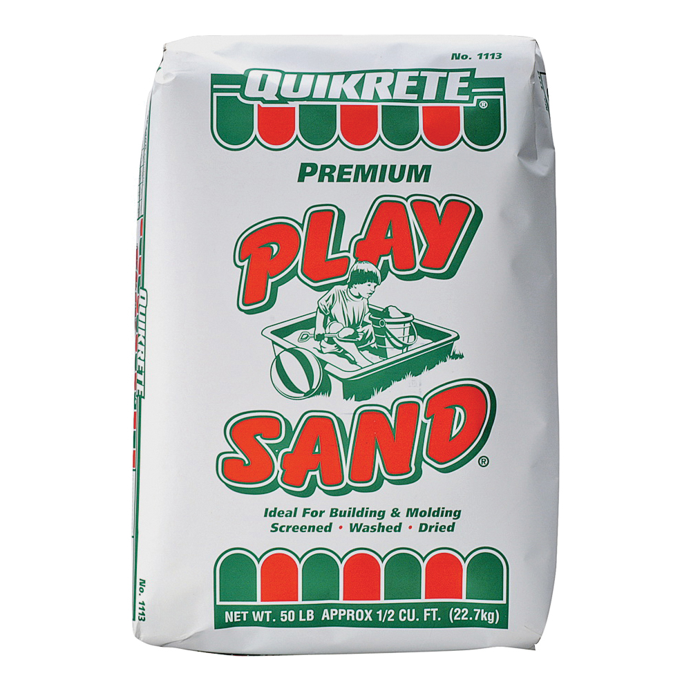Picture of Quikrete 1113-51 Play Sand, Solid, White/Tan, 50 lb Package, Bag