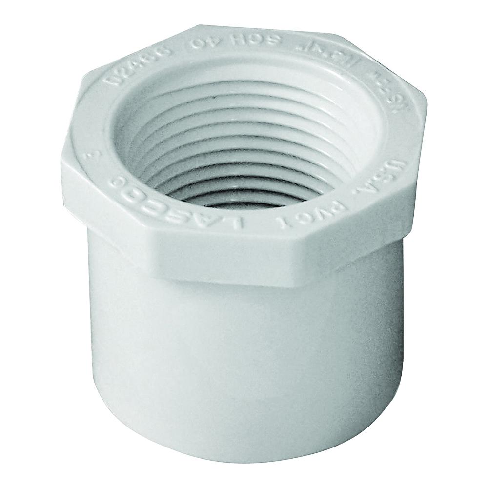 Picture of GENOVA 300 Series 34240 Pipe Reducing Bushing, 1-1/4 x 1 in, Spigot x FIP, White, SCH 40 Schedule