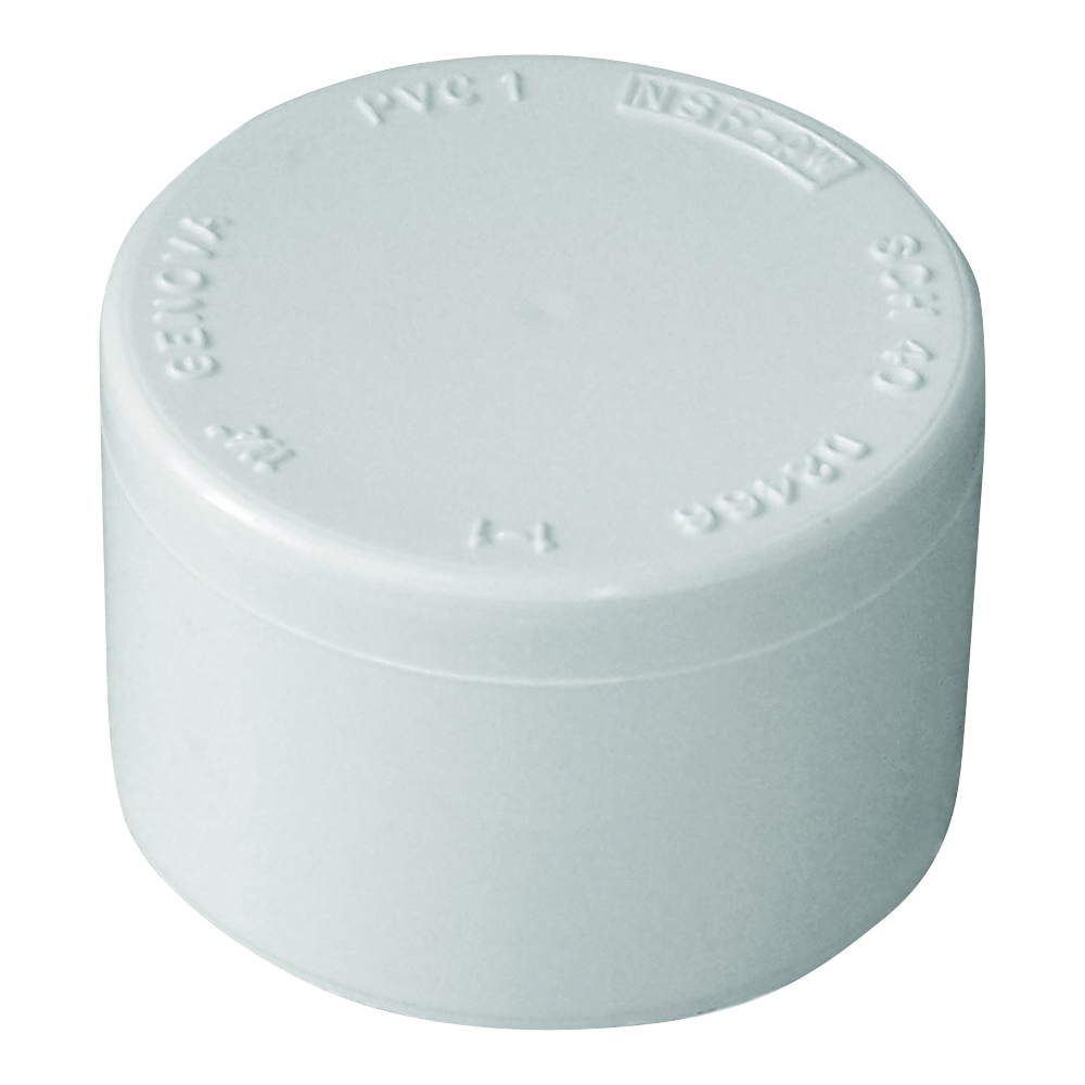 Picture of GENOVA 300 Series 30155 Pipe Cap, 1/2 in, Slip Joint, White, SCH 40 Schedule