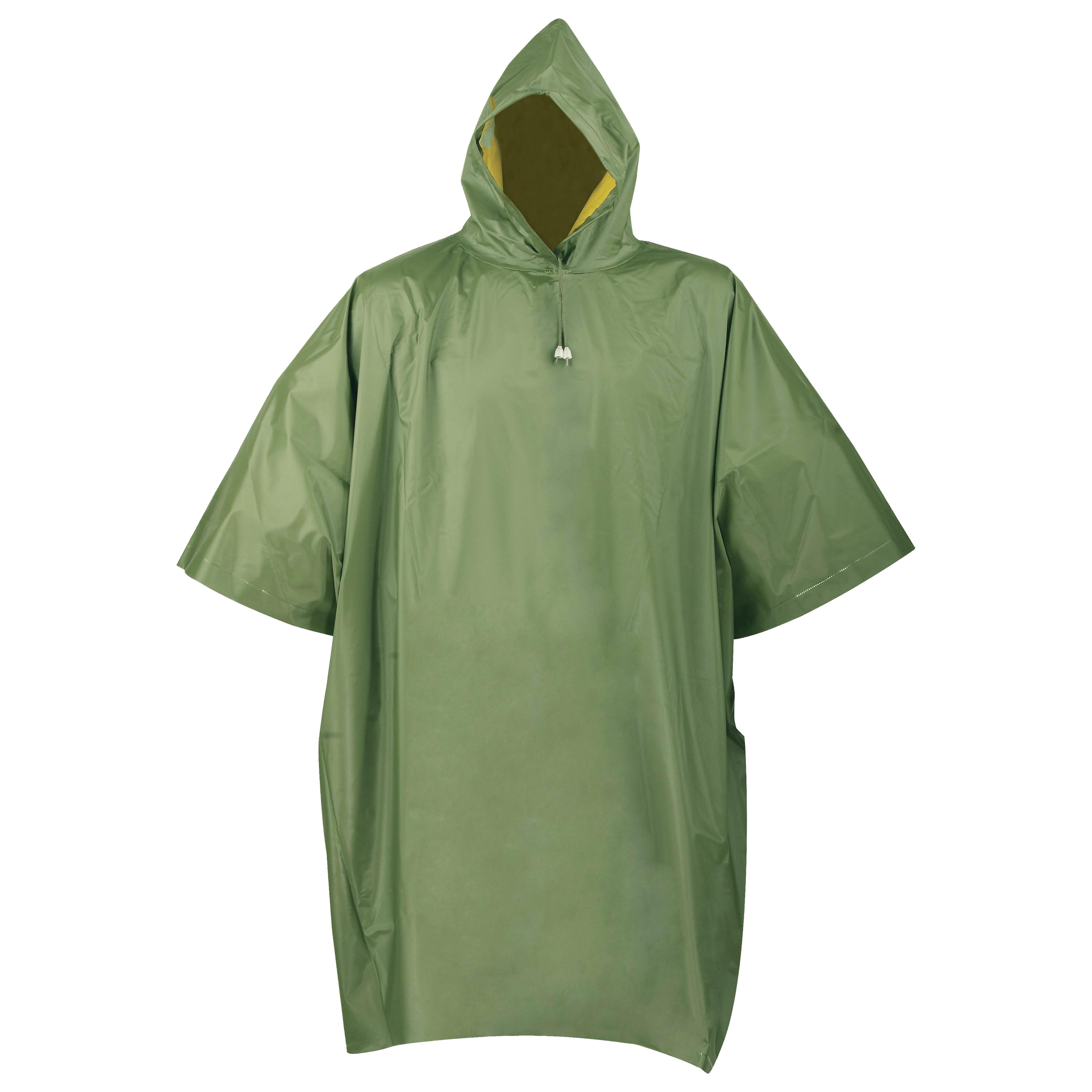 Picture of Diamondback 2690 Reversible Poncho, L, PVC, Olive/Yellow, Side Snap Closure