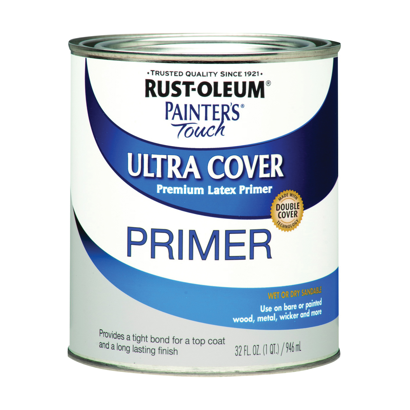 Picture of RUST-OLEUM PAINTER'S Touch 1980502 Brush-On Primer, Flat, Gray, 0.5 pt, Can