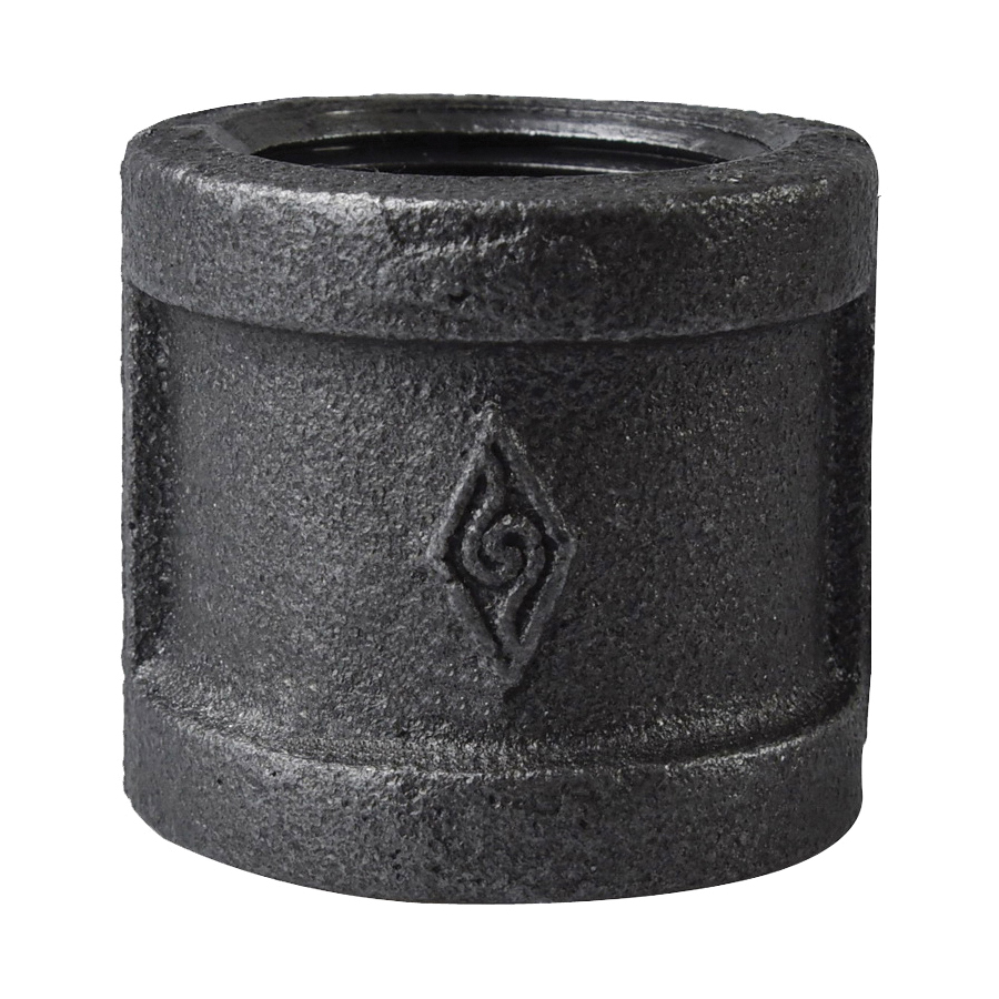 Picture of ProSource 1 BM Black Coupling, 1 in, FIP, Steel, Meets ASTM A197/A197M Standard, SCH40 Schedule, 300 psi Pressure