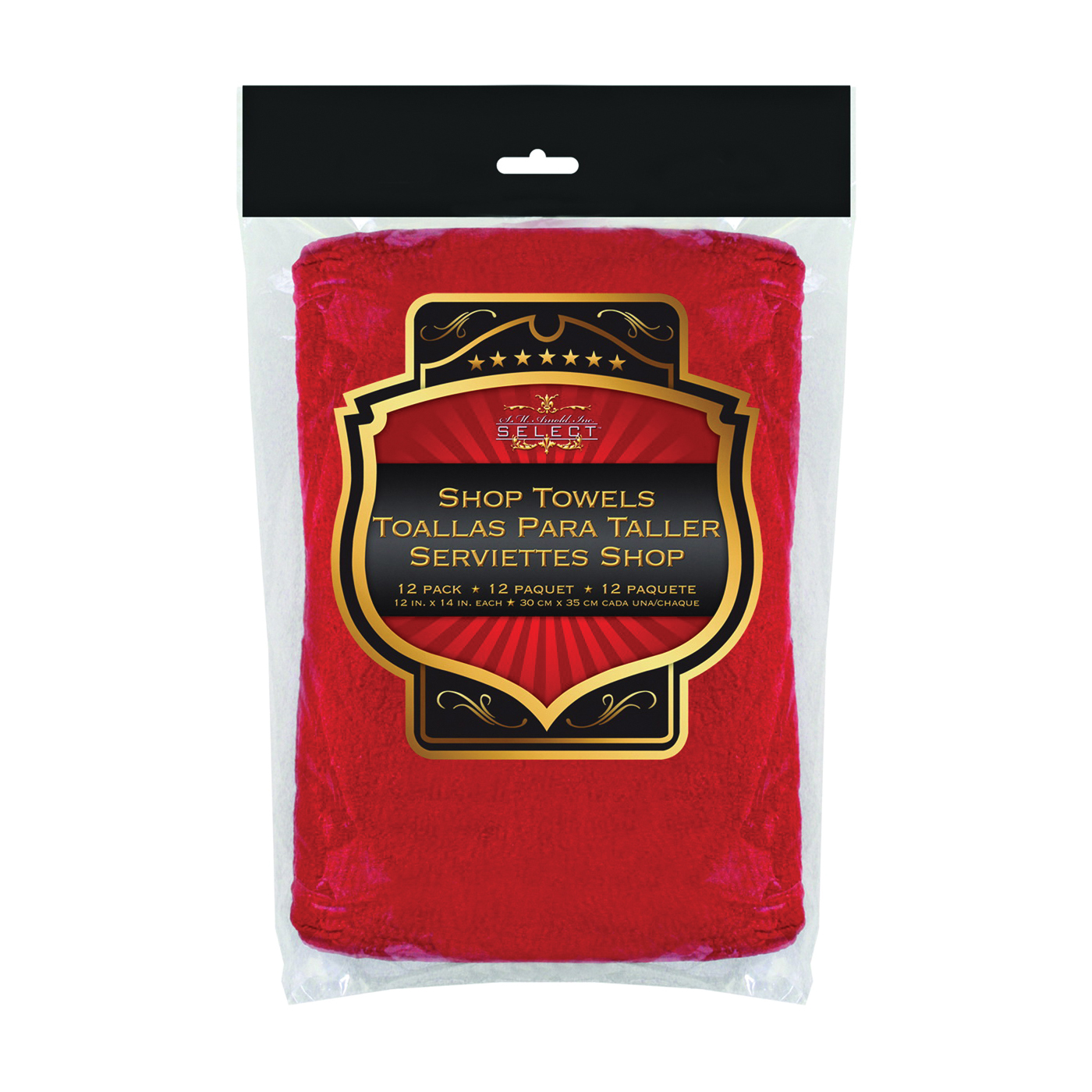Picture of SM ARNOLD SELECT 85-765 Shop Towel, Red, 14 in