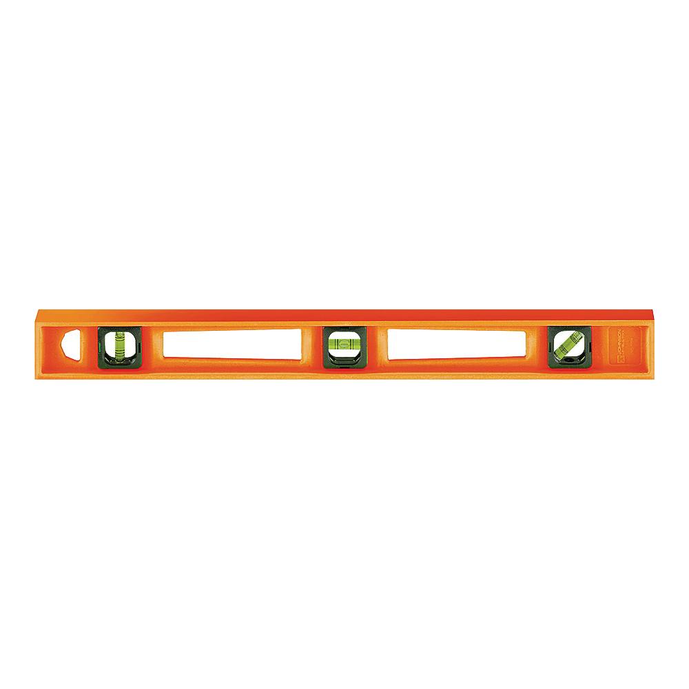 Picture of Johnson 7724-O I-Beam Level, 24 in L, 3 -Vial, Non-Magnetic, Polystyrene, Orange