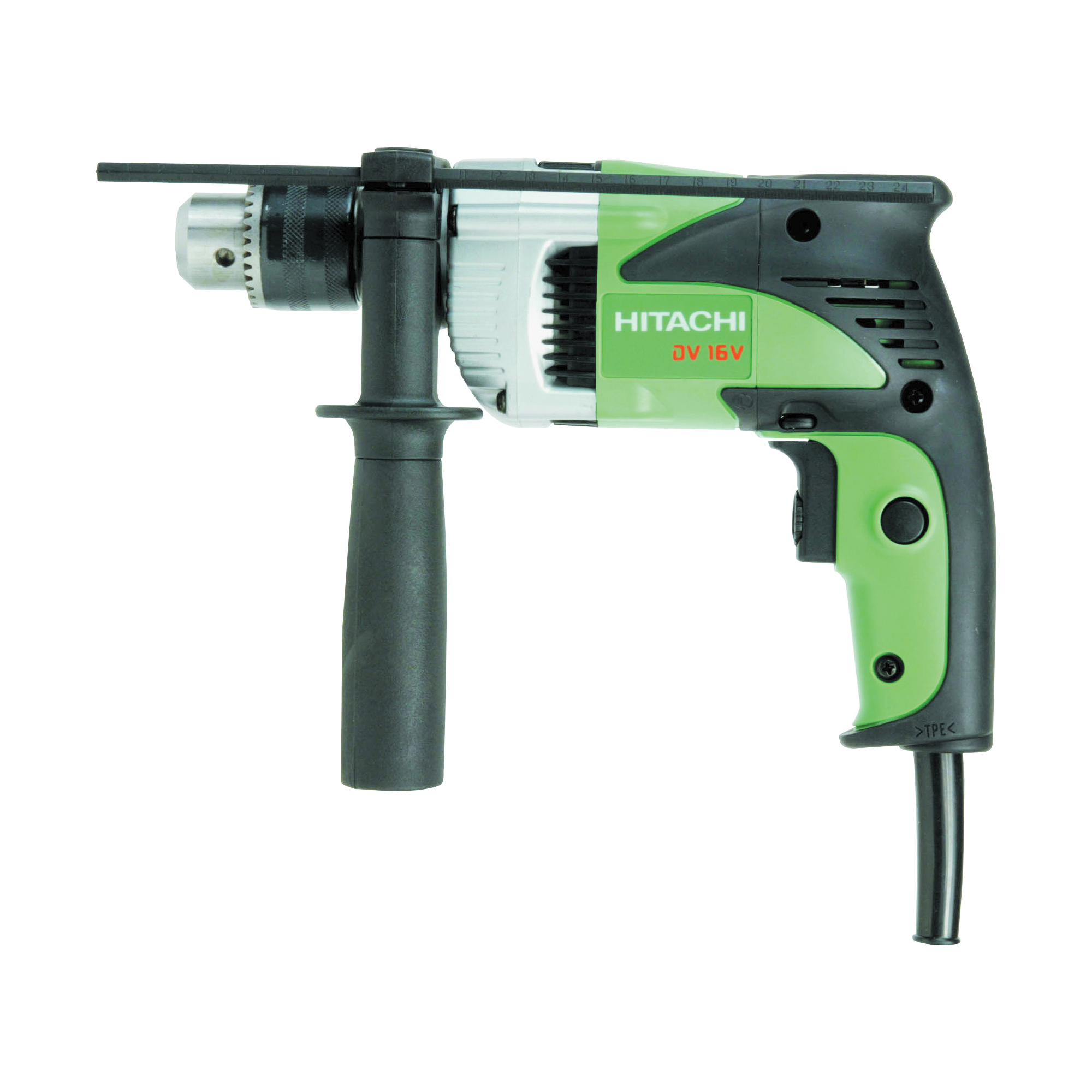 Picture of HITACHI DV16V Hammer Drill, 6 A, 350 W, 5/8 in Concrete, 1 in Wood, 1/2 in Steel Drilling, 1-1/16 in Chuck