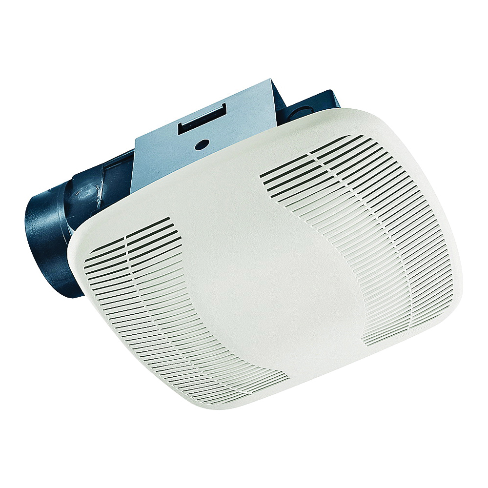Picture of Air King BFQ90 Exhaust Fan, 8-11/16 in L, 9-1/8 in W, 0.5 A, 120 V, 1-Speed, 90 cfm Air, ABS, White