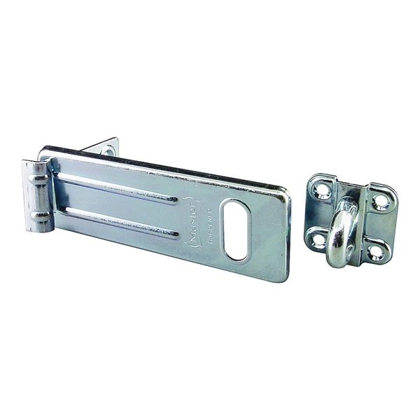 Picture of Master Lock 706D Hasp, 6 in L, Steel, Zinc, 9/16 in Dia Shackle