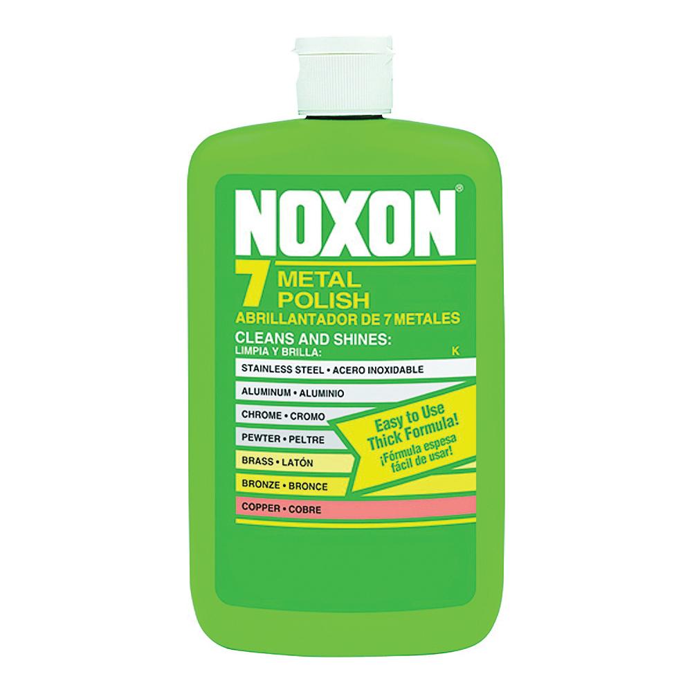 Picture of Noxon 6233800117 Metal Polish, 12 oz Package, Bottle, Liquid, Ammonia, Off-White/Tan