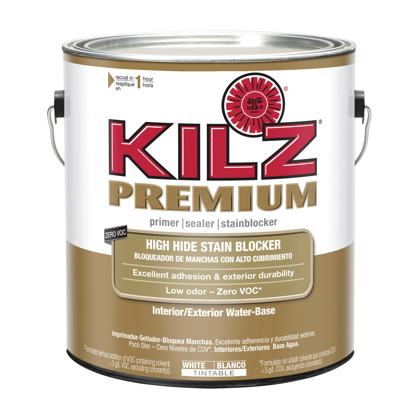 Picture of Kilz 13041 Primer, Thick, White, 1 gal, Can
