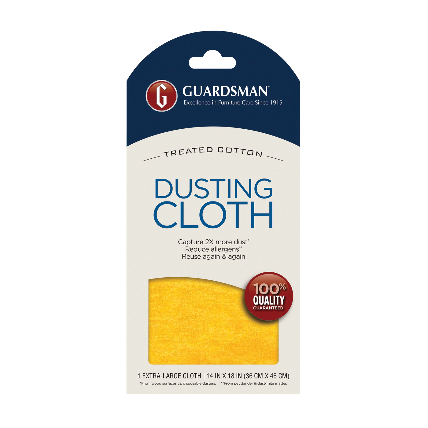 Picture of GUARDSMAN 462100 Dusting Cloth, 18 in L, 14 in W, Cotton, 12