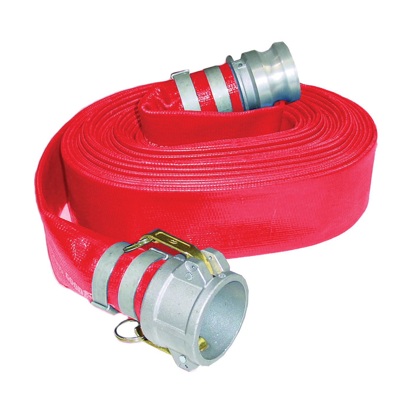 Picture of ABBOTT RUBBER 1152-2000-50-CE Water Discharge Hose, 50 ft L, Camlock Female x Male, PVC, Red