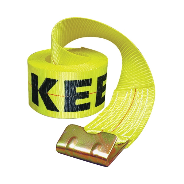 Picture of KEEPER 04926 Winch Strap, 4 in W, 30 ft L, Polyester, Yellow
