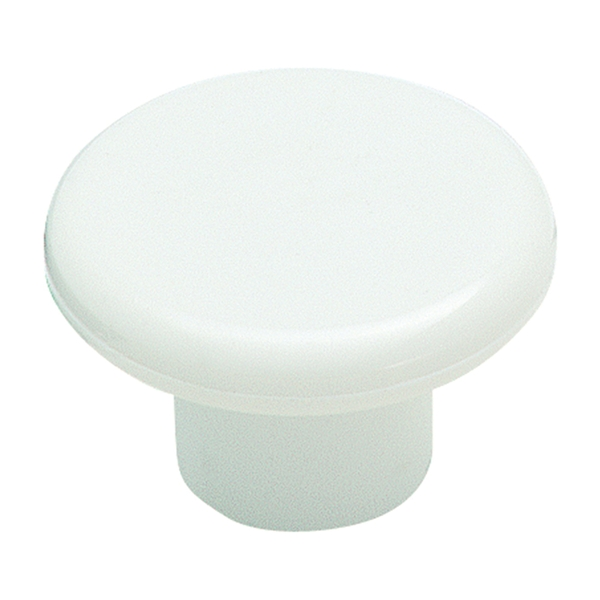 Picture of Amerock Allison Value BP802PW Cabinet Knob, 13/16 in Projection, Plastic