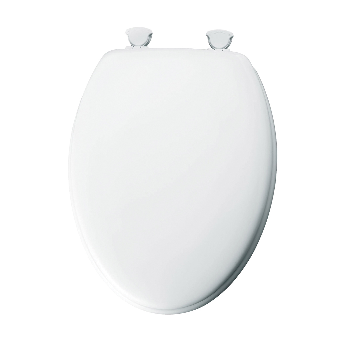 Picture of BEMIS 144EC-000 Toilet Seat, Elongated, Molded Wood, White, Twist Hinge