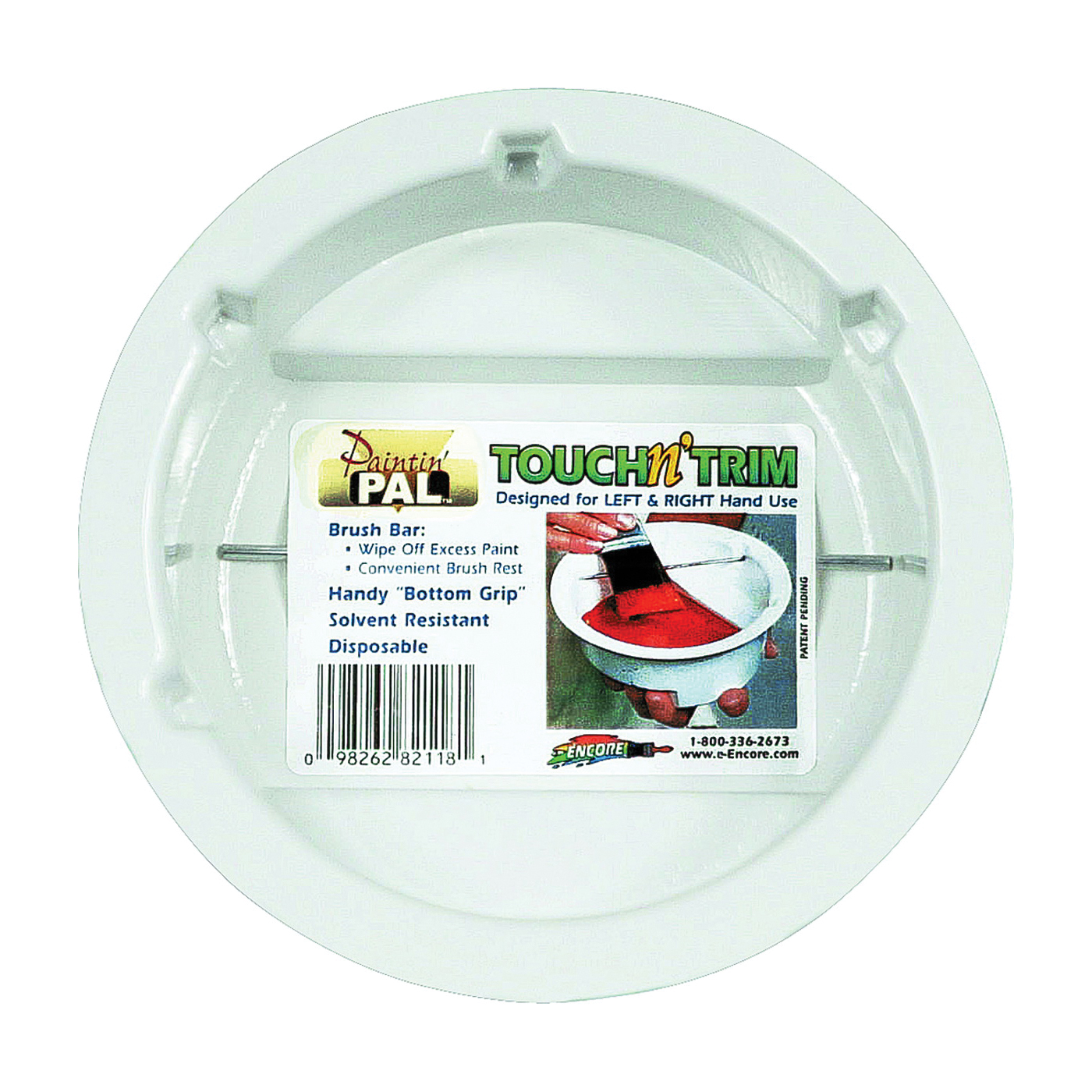 Picture of ENCORE Plastics 82118 Painters Tray, Touch-N-Trim, White