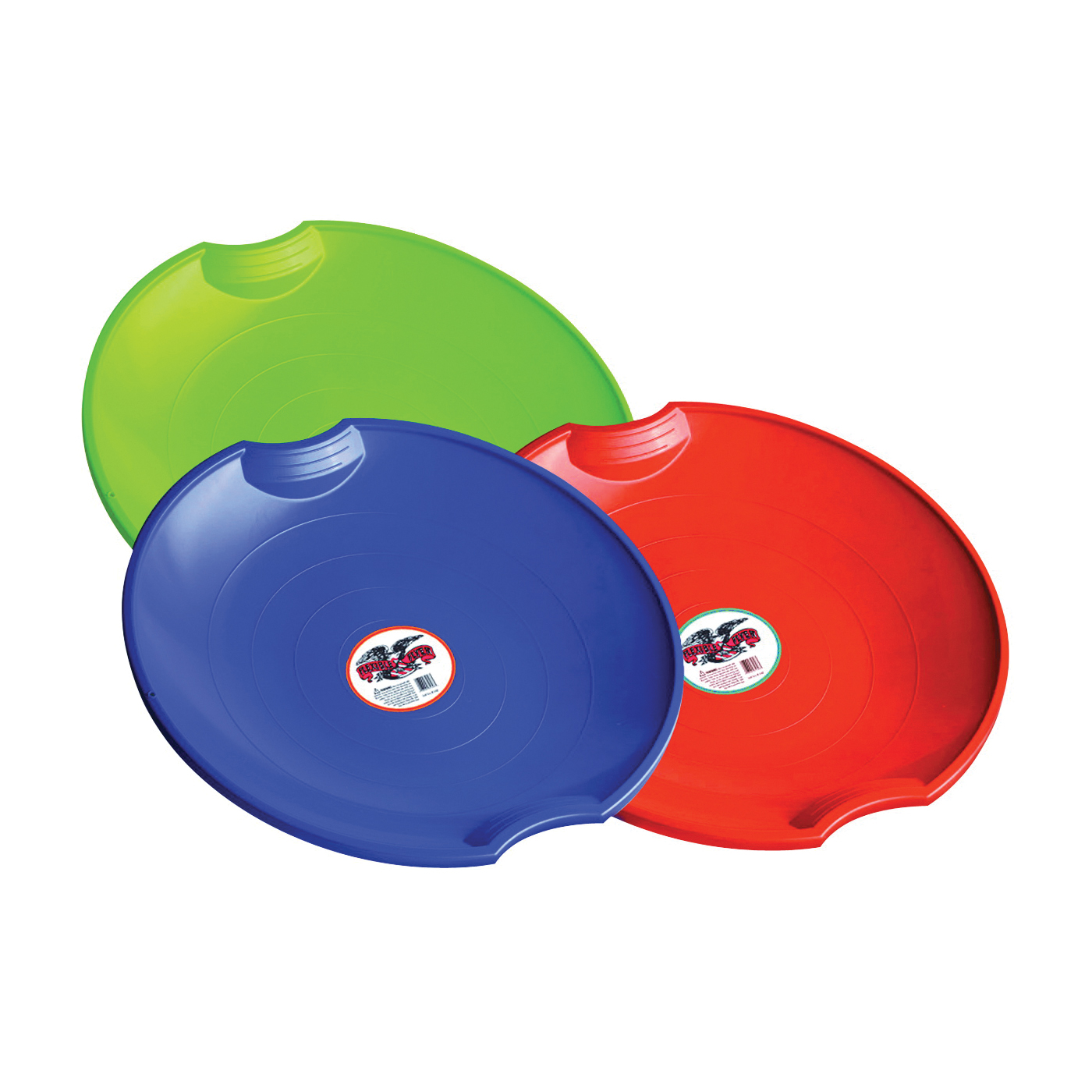 Picture of PARICON 626 Flying Saucer, 4-Years Old and Up Capacity, Plastic, Blue/Lime Green/Orange