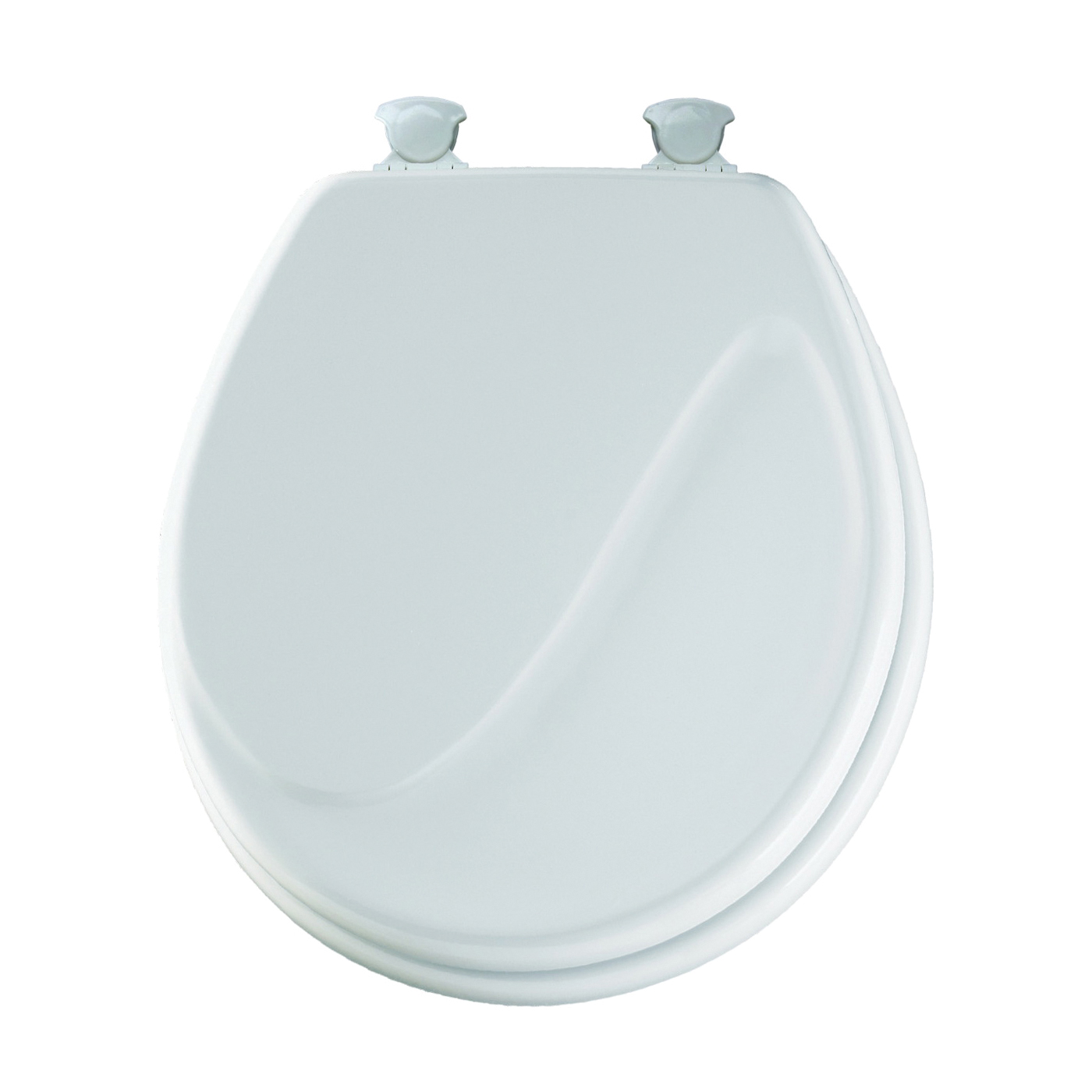 Picture of Mayfair Traditional 24EC-000 Toilet Seat, Round, Molded Wood, White, Twist Hinge