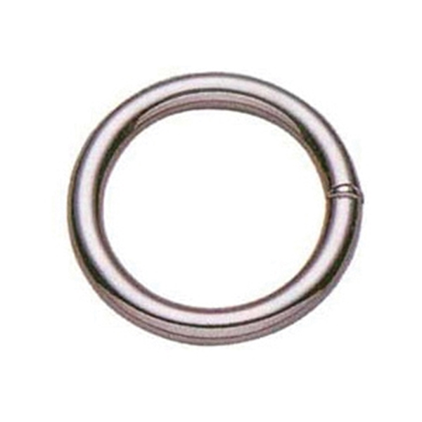 Picture of BARON Z-7-1-1/2 Welded Ring, 1-1/2 in ID Dia Ring, #7 Chain, Metal, Nickel Brass