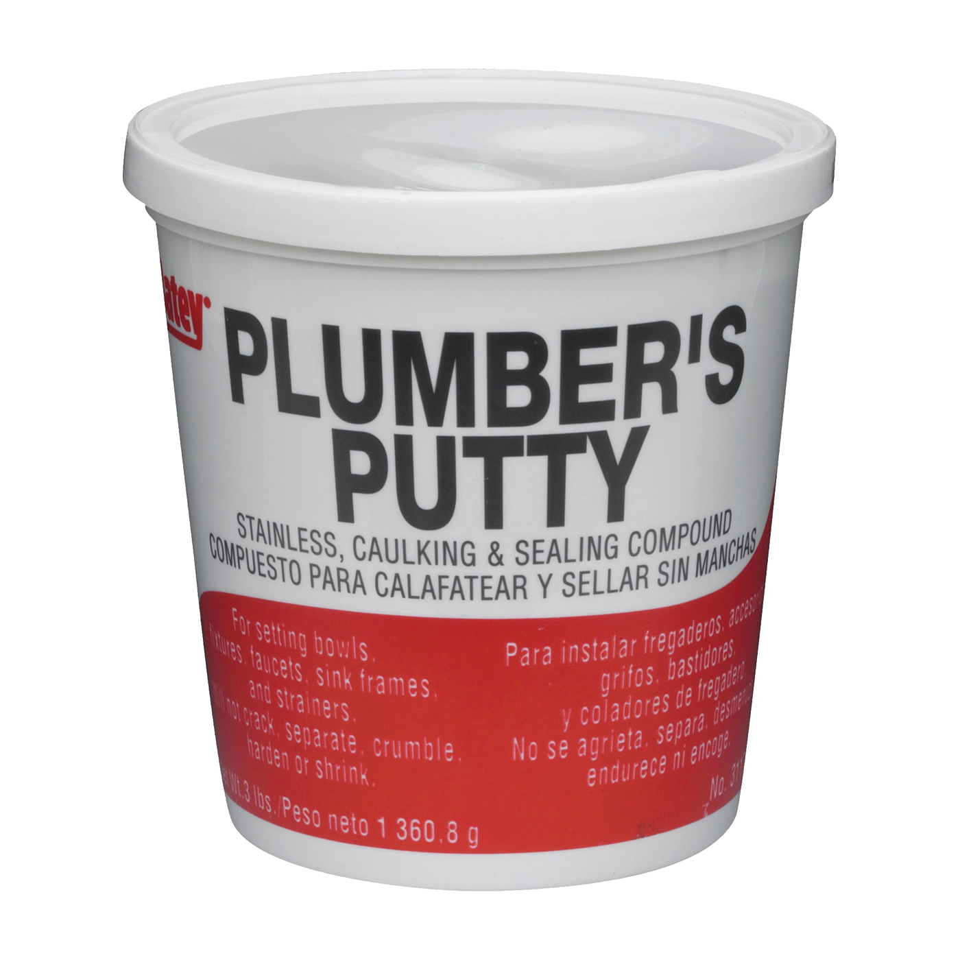 Picture of Oatey 31166 Plumber's Putty, Solid, Off-White, 14 oz Package