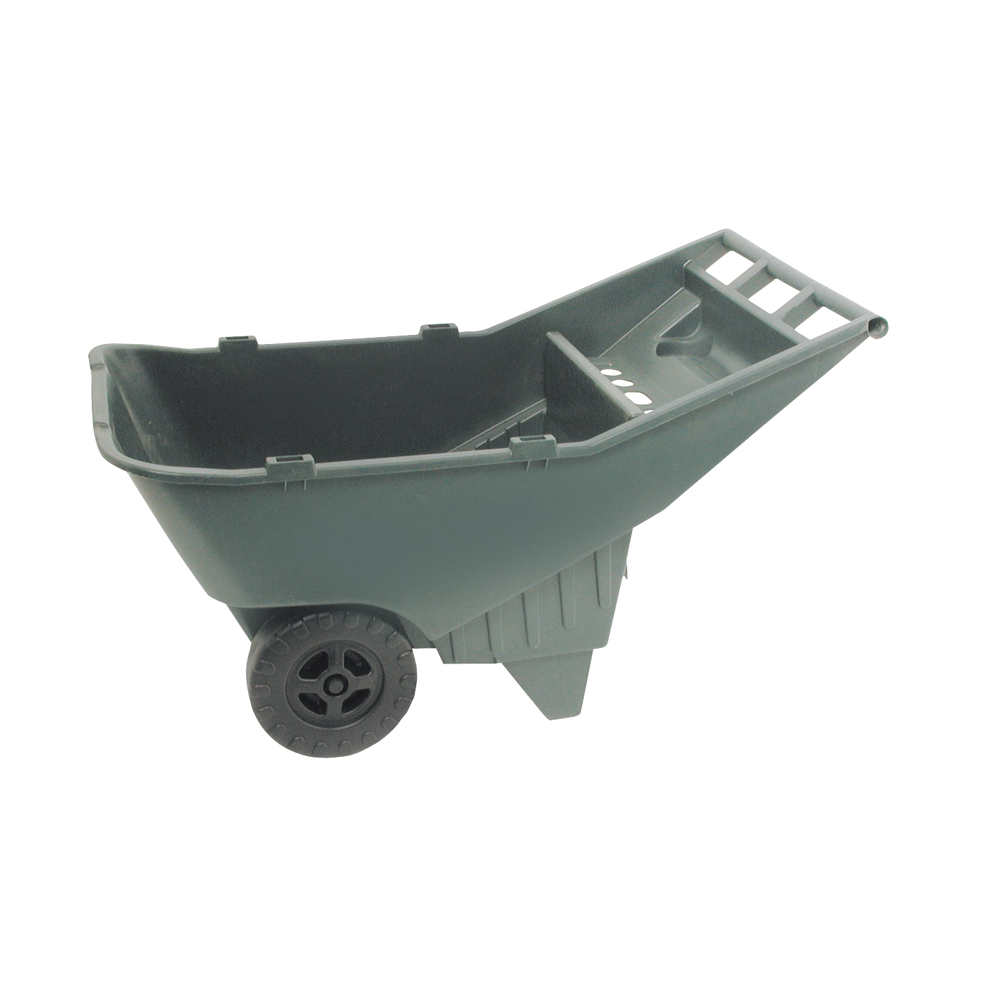 Picture of Rubbermaid 370612714 Lawn Cart, 200 lb, HDPE Deck, 2 -Wheel, 11 in Wheel, Green