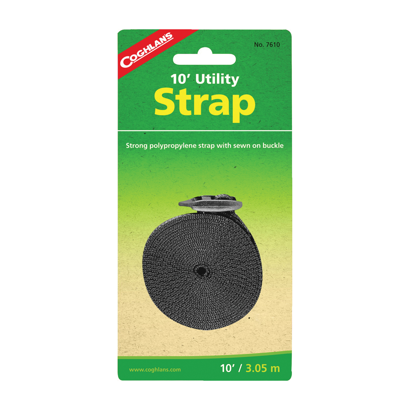 Picture of COGHLAN'S 7610 Utility Strap, 1 in W, 10 ft L, Polypropylene