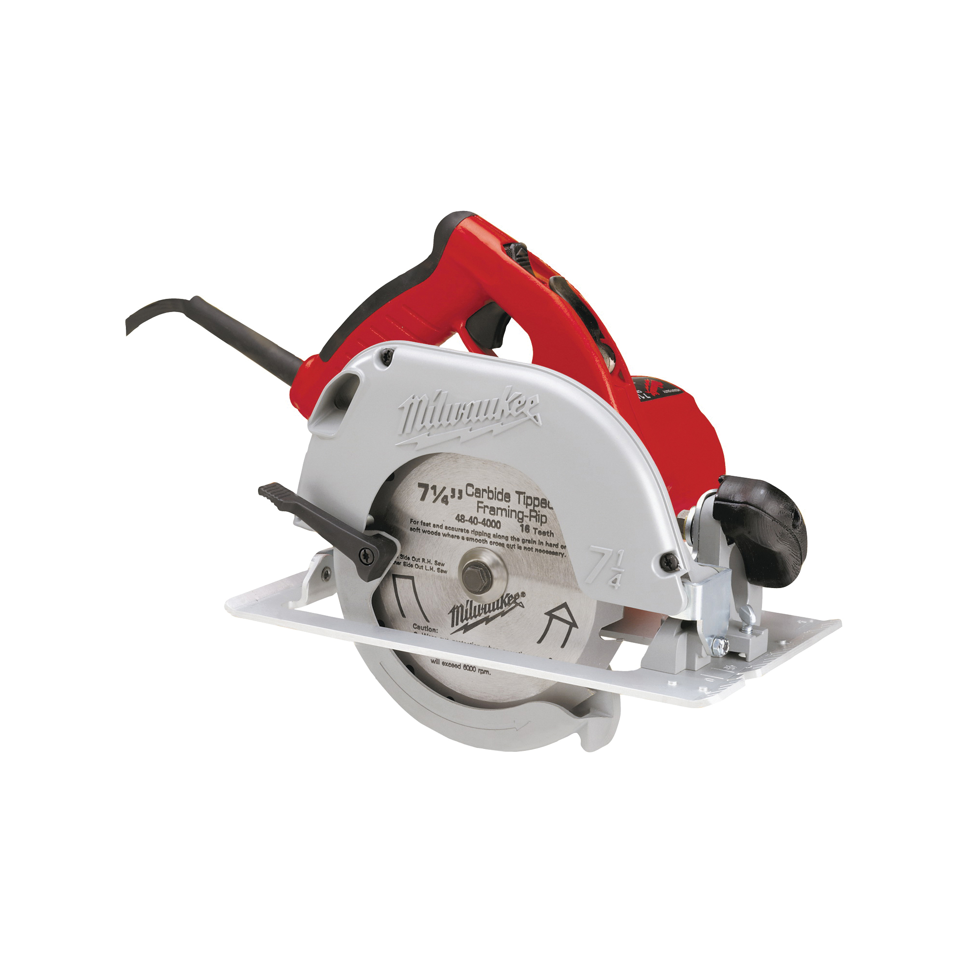Picture of Milwaukee 6390-21 Circular Saw, 120 V, 15 A, 1800 W, 7-1/4 in Dia Blade, 5/8 in Arbor, 50 deg Bevel