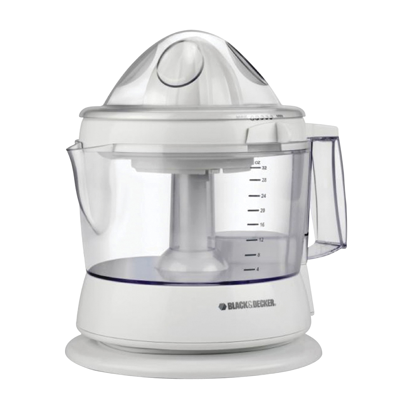 Picture of Black+Decker CJ625 Citrus Juicer, 34 oz Bowl, Plastic Housing Material, White Housing