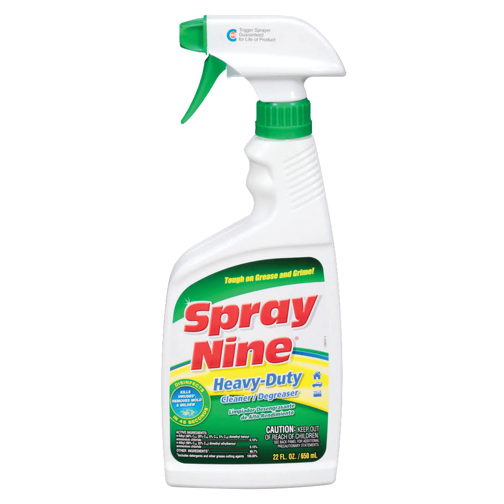 Picture of Spray Nine 26825 Cleaner/Degreaser, 22 fl-oz Package, Trigger Spray Bottle, Liquid, Citrus, Clear