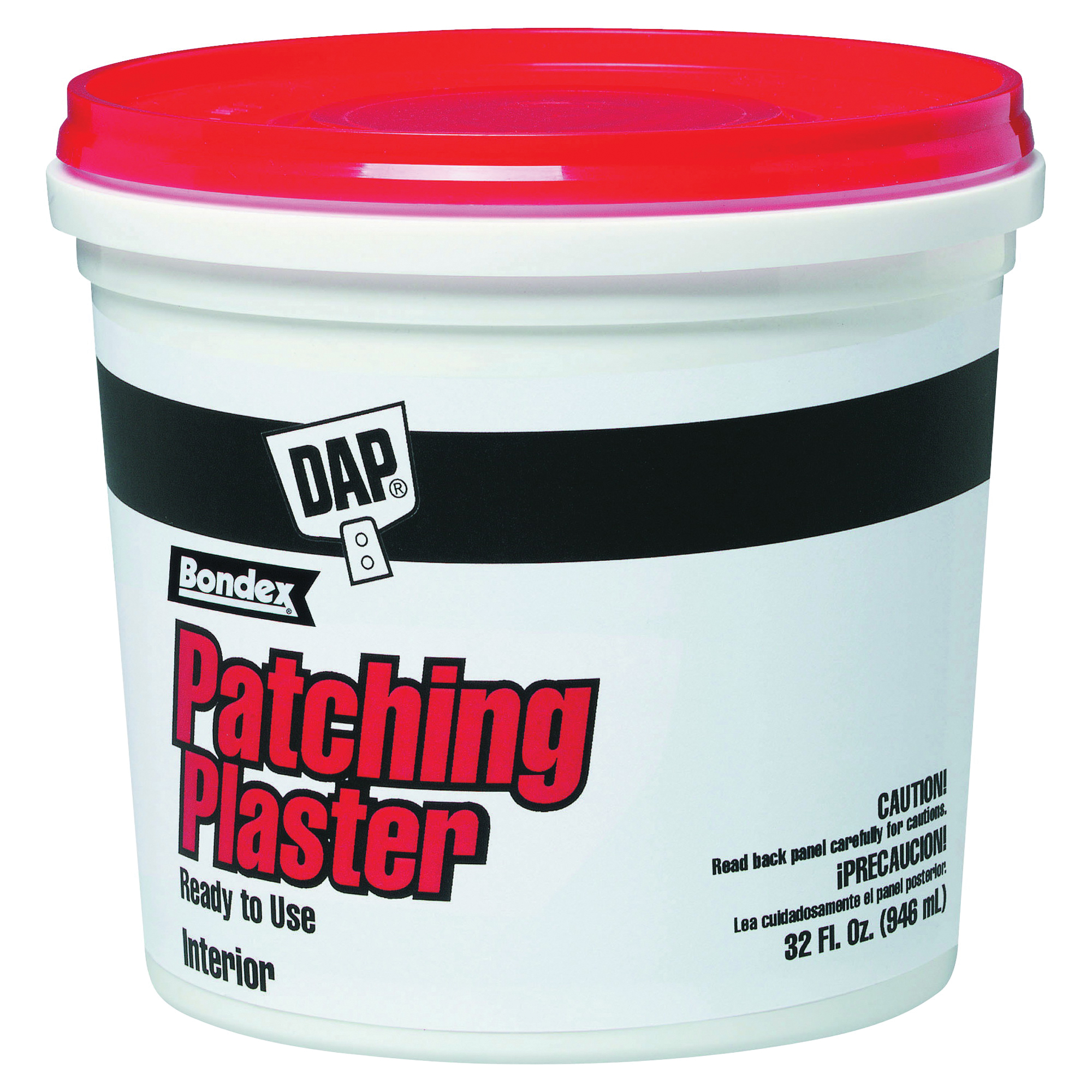 Picture of DAP 52084 Patching Plaster, Paste, Slight, White, 1 qt Package, Tub