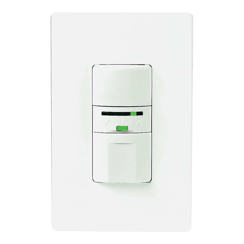 Picture of Eaton Wiring Devices OS106D1-C1-K Motion Activated Dimmer Sensor with LED, 120 V, 1-Pole, Motion Sensor