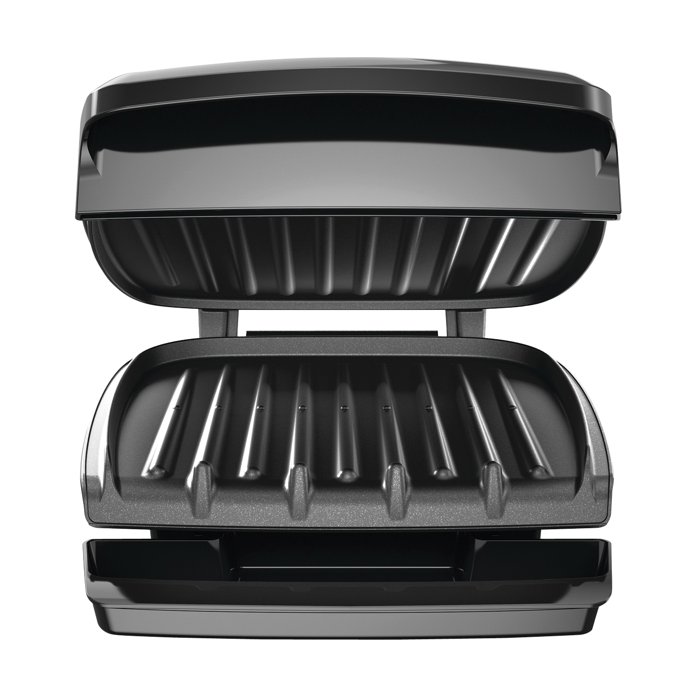Picture of George Foreman GR340FB Plate Grill, 1000 W, 120 V, Metal/Plastic, Black