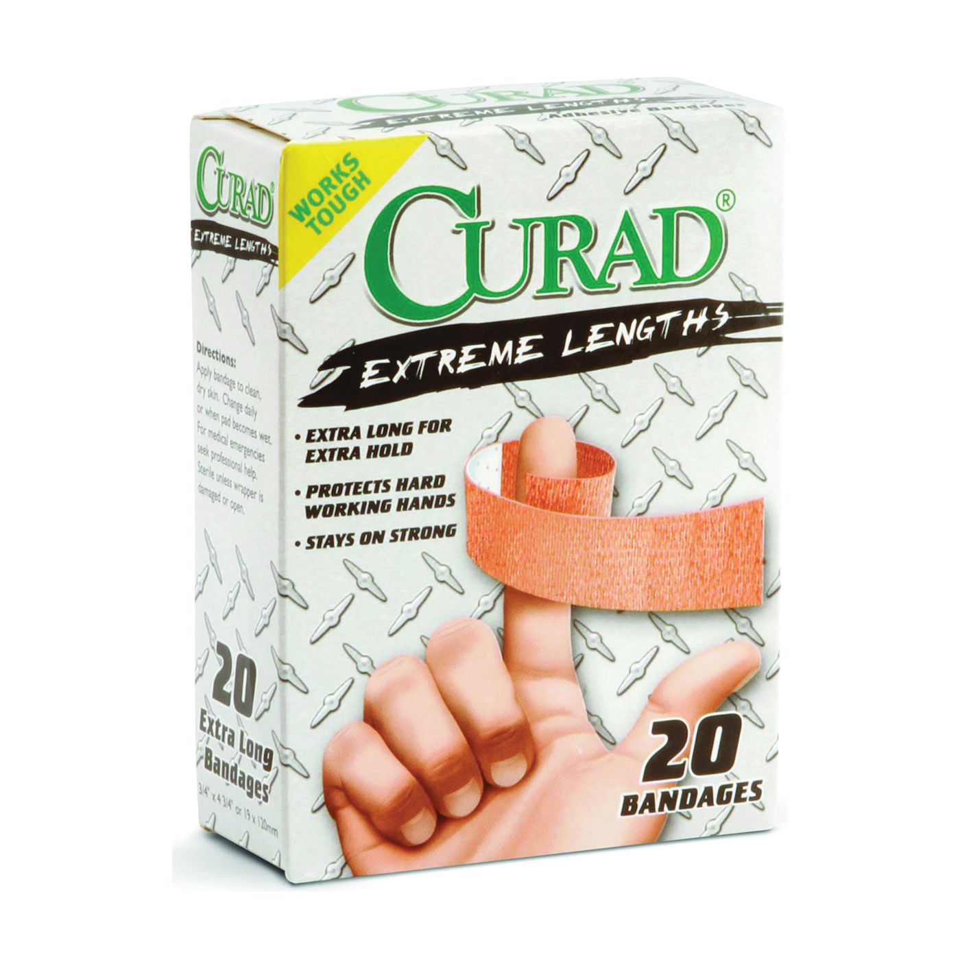 Picture of CURAD CUR01101 Adhesive Bandage, 3/4 in W, 4-3/4 in L, Fabric Bandage, 24, Case